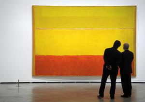 Самые знаменитые полотна Ротко - абстрактные картины, состоящие из цветных полос